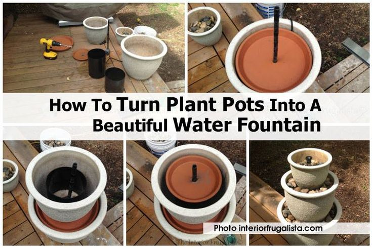 Homemade Water Fountain using plant pots