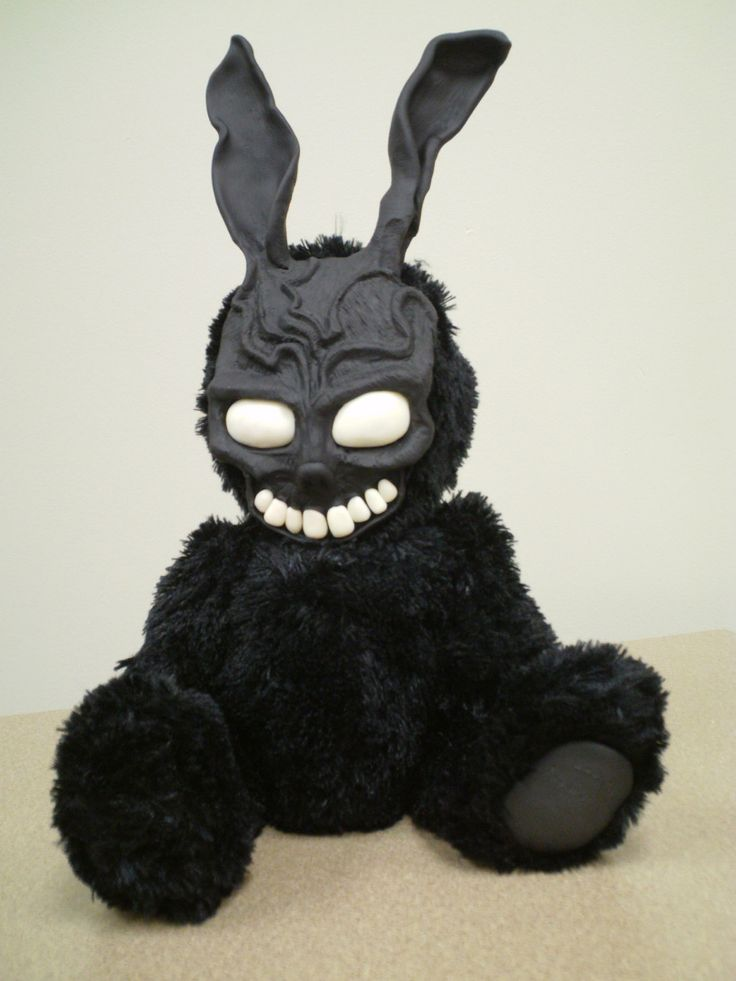 I want! :)  Donnie Darko  Frank Rabbit OOAK Monster by Panlora on Etsy, $100.00