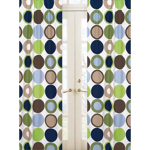 Sweet Jojo Designs Designer Dot Rod Pocket Curtain Panels