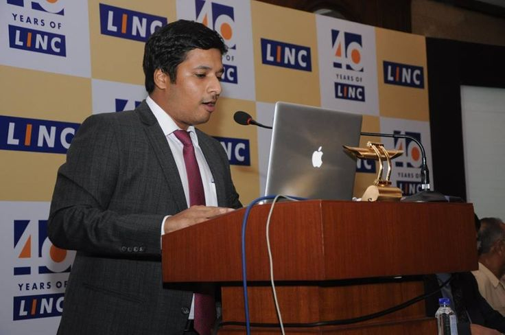 The present generation of Linc Pens- Mr. Rohit Jalan speaks at the event.