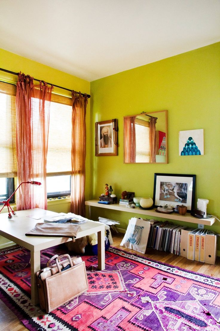 Vibrant And Inspiring Eclectic Workspace