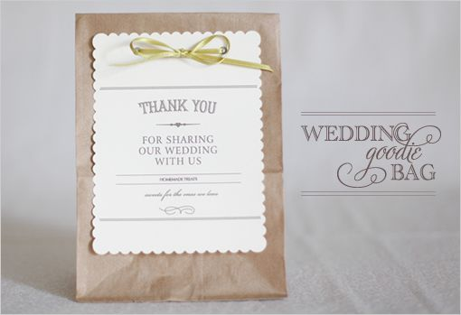 Wedding Favor with free template