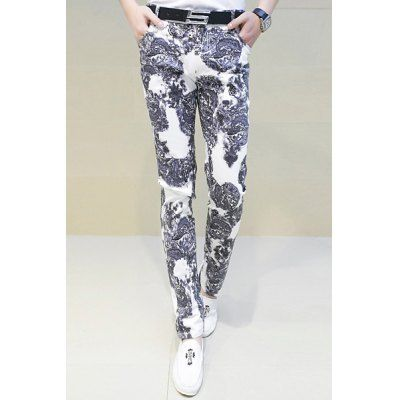 Style: Fashion  Material: Cotton, Polyester  Fit Type: Regular  Waist Type: Mid  Closure Type: Zipper Fly  Front Style: Flat  Weight: 1KG  Pant Length: Long Pants  Pant Style: Straight  Package Contents: 1 x Pants