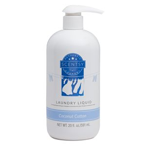 Coconut Cotton Laundry Liquid -  Sun-warmed cotton, creamy coconut milk, bright citrus and white sandalwood transport you to a cabana on a tropical beach.