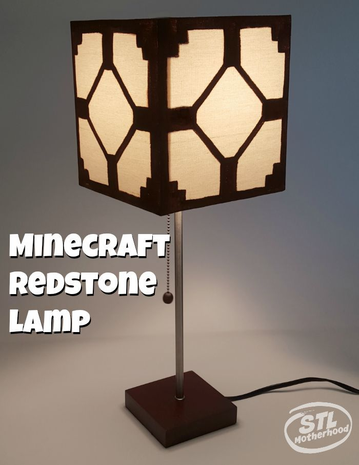 Minecraft Lamp  #gamers will love this easy #DIY