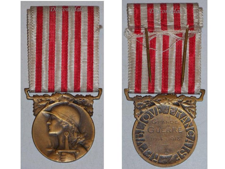 France WW1 Commemorative Military Medal WWI 1914 1918