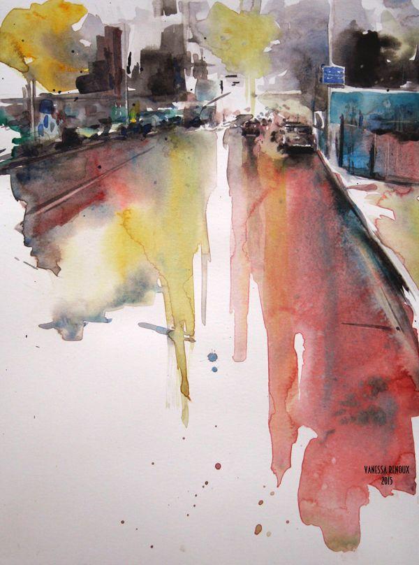 Quot Montreal Street I Quot Aquarelle Urbaine Peinture