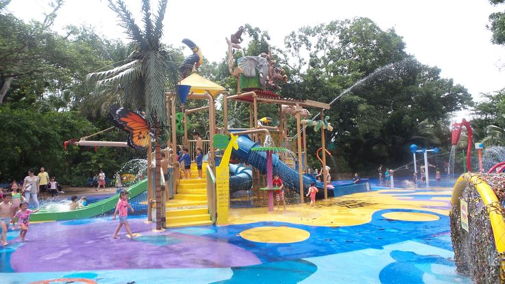Singapore Zoo has a kidz zone that includes this great little water park for them to cool off in the Singapore heat.