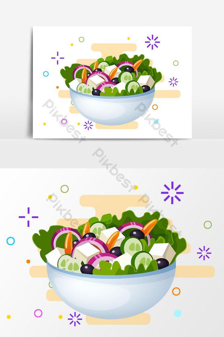 كرتون سلطة الخضار عناصر التصميم مرسومة باليد صور Png Ai تحميل مجاني Pikbest Vegetable Cartoon Salad Design Design Elements