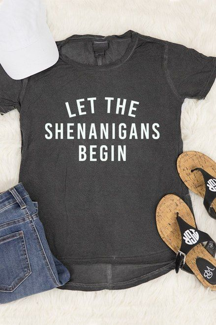 10d6dcc0e Let The Shenanigans Begin Graphic Tee - The Pink Lily | Cute Styles ...