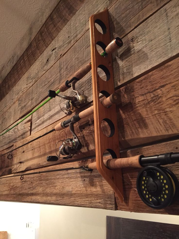 Barn Wall Fishing Pole Rack My Rustic Creations