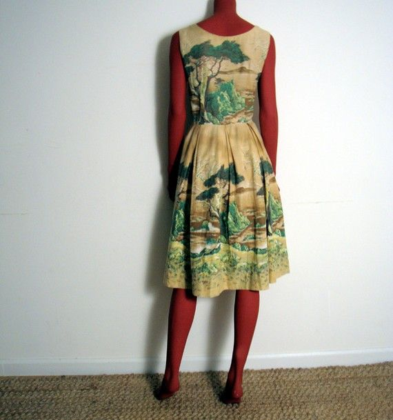 1950's border print fabric.