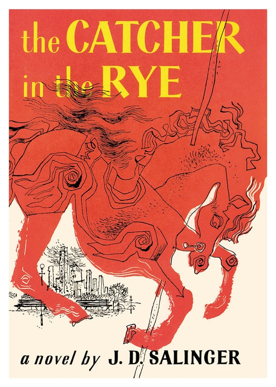 Catcher In The Rye Book Jacket Print 16x20 by JustPrints on Etsy, $22.95