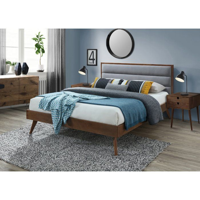 Breaux Queen Upholstered Platform Bed With Images Upholstered