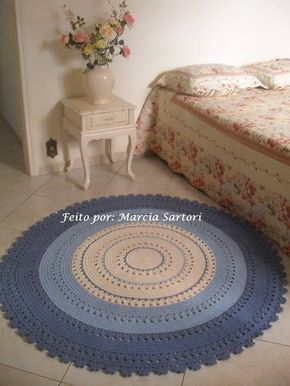 Tapete de barbante redondo na medida de 1,50 metro de diametro,vc pode escolher as cores que combine com sua decoração!