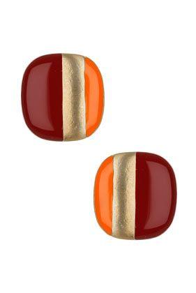 topshop - orange & maroon <3. Go Hokies!: Hoki Earrings, Wear Earrings, Colors, Stud Earrings, Ears, Studs Earrings, Nails Polish, Strips Earrings, Jewerly Accessories