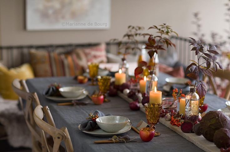 "114 likerklikk, 29 kommentarer – Marianne de Bourg (@mariannedebourg) på Instagram: "" My fall table            ____________________________ #myhome #stylist #autumntable…"""