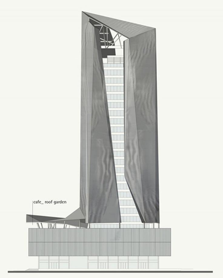 Piraeus Tower facade proposals in Athens, Greece