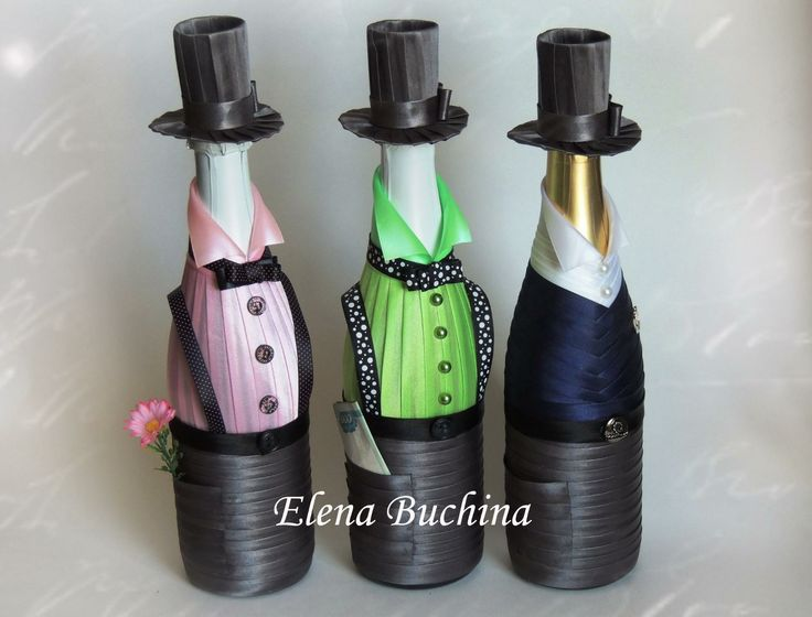 Gentlemen decorated bottles