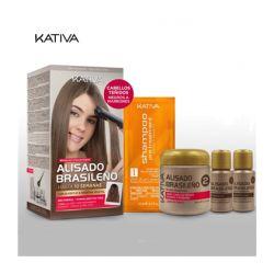 Alisado Brasileño Kativa - Cabello teñido marrón/negro