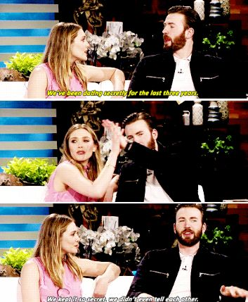 Elizabeth Olsen and Chris Evans about their dating rumours