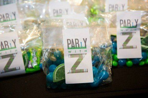 This Mitzvah exit treat was wrapped with a custom label.    Bar Mitzvah Ideas | Bar Mitzvah Exit Treat | Exit Treats | Golf Bar Mitzvah | Golf Theme