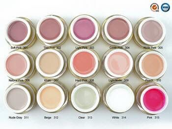 Gel builder 15 colors - www.e-nails.gr