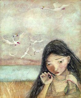 Ilustración de Los cisnes salvajes - Claudia Lilian Espinosa
