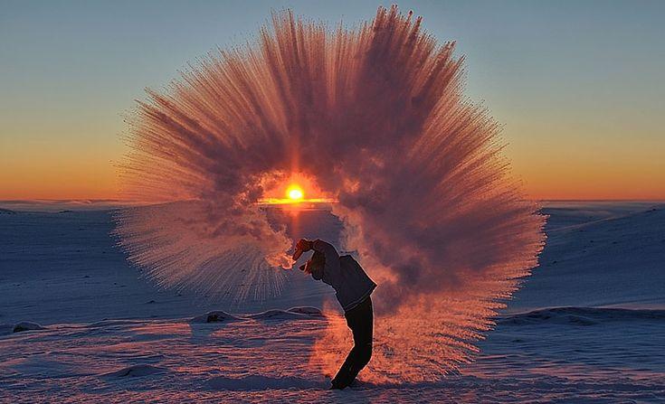 Co se stane, když rozlijete čaj při –40 °C