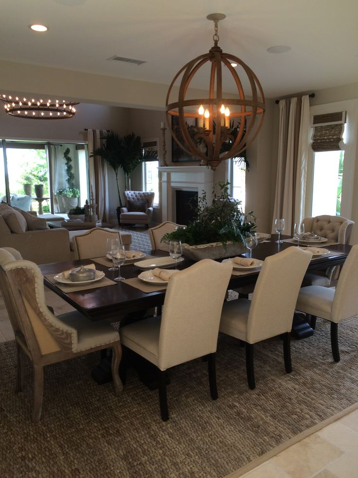 591 best beautiful dining rooms images on pinterest for Images of beautiful dining rooms