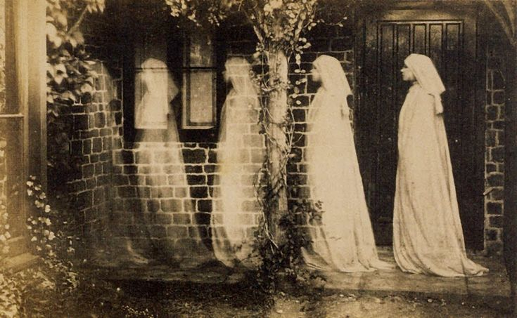 Anonymous -The Ghost of Bernadette Soubirous (c.1890): Photos, Creepy, Spirit Photography, Spooky, Ghosts, Paranormal, Halloween