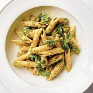 Penne Rigate with Arugula-Almond Pesto