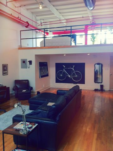 With the painted frame your #bicycle can fit right into the living room #decor.