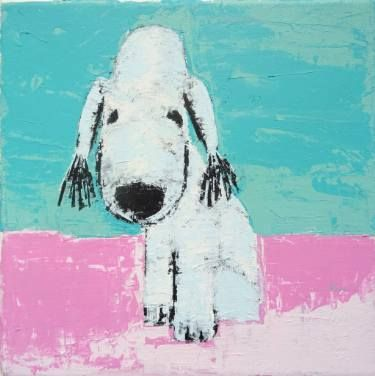 """Saatchi Art Artist Andy Shaw; Painting, """"Candy the Bedlington Terrier"""" #art"""