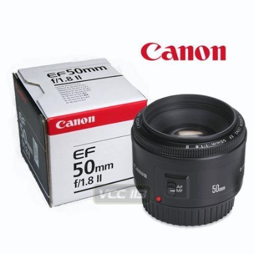 Lente Canon 50mm 1.8 Ii, Nuevo, Opcional Filtro Uv Y Hood