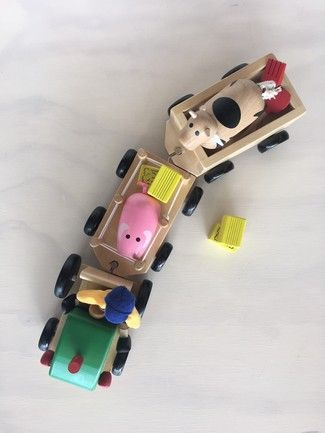 Cool wooden toy for toddlers - Discoveroo Farm Set With Tools