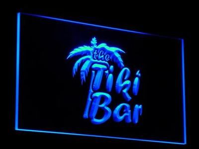 j008 OPEN Tiki Bar Enseigne Lumineuse LED Neon Light SignWholesale Dropshipping On/ Off Switch 7 colors DHL