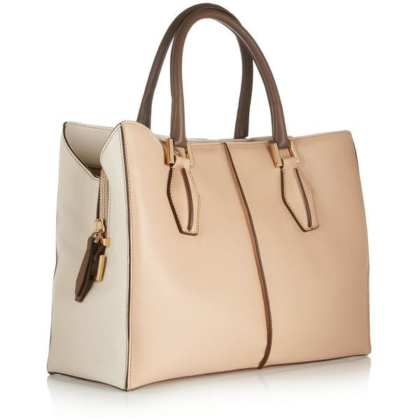 Tod's D-Cube Shopping medium leather tote found on Polyvore