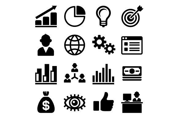 Marketing And Ceo Icons Set Icon Design Inspiration Game Icon Design Icon Set