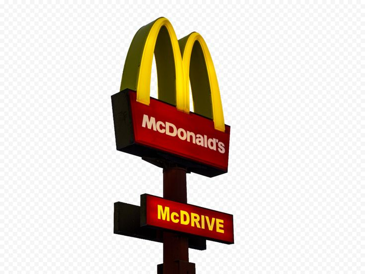 Hd Real Mcdonalds Restaurant Mcdrive Street Sign Png Image Mcdonald S Restaurant Png Images Street Signs