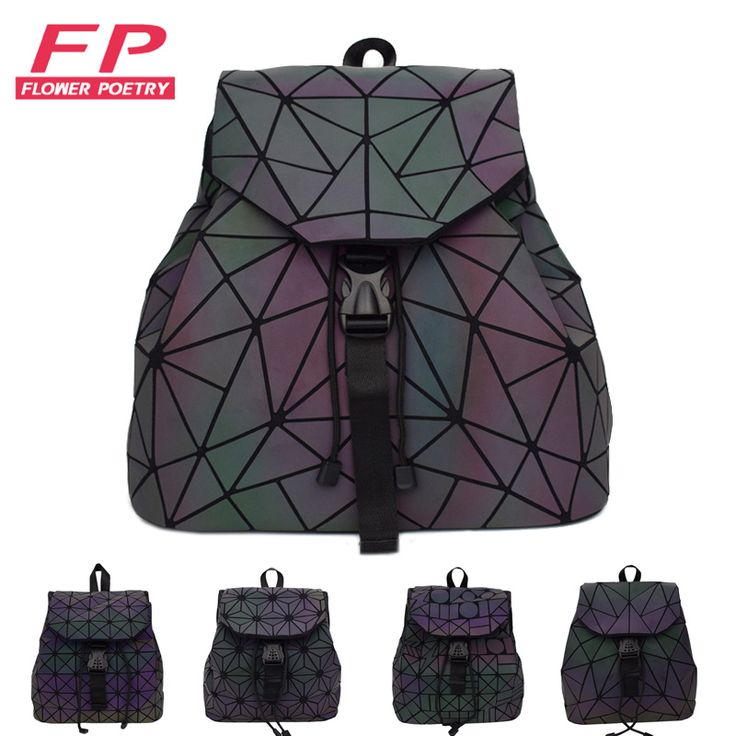 Cheap school bags for teenagers, Buy Quality bags for teenagers directly from China bags for teenage girls Suppliers: Women Laser Luminous Backpack Mini Geometric Shoulder Bag Folding Student School Bags For Teenage Girl Hologram Bao Backpack
