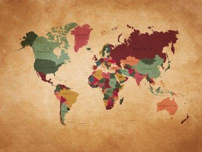 Mapa Mundi Envelhecido