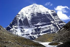 Mt. Kailash. In the Eastern world it is concidered the spiritual center of the universe and the birthplace of 4 major religions.... Hinduism, Buddhism, Jainism and Taoism.