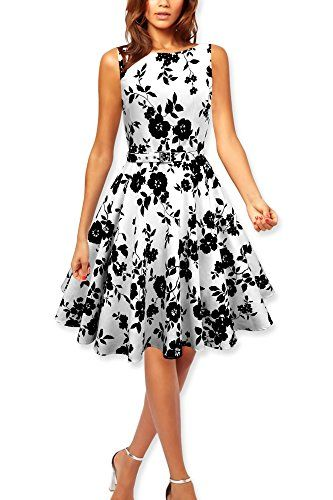 Black Butterfly 'Audrey' Vintage Serenity 50's Dress (White & Black, US 12) Black Butterfly Clothing http://www.amazon.com/dp/B00N815IIW/ref=cm_sw_r_pi_dp_yQsNvb0K585KV