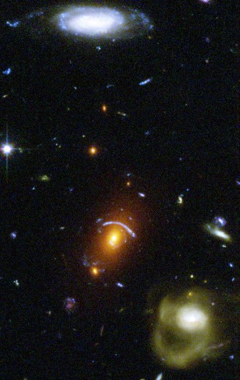 NASA's Hubble Space Telescope has taken a view of an eclectic mix of galaxies. In taking this picture, Hubble's Advanced Camera for Surveys was not looking at any particular target. The camera was taking a picture of a typical patch of sky, while Hubble's infrared camera was viewing a target in an adjacent galaxy-rich region.