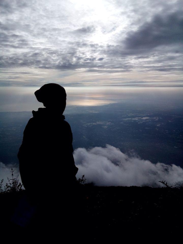 The summit of Mt. Ciremai (3078 mdpl)