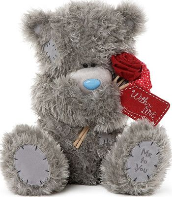 Extra Large Me to You Tatty Teddy Holding Flowers