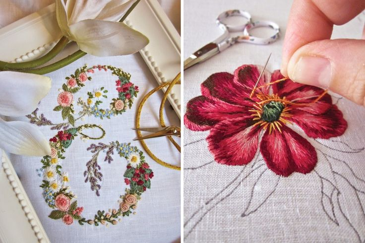 The Italian blog Elisabetta Ricami a Mano draws an international following for its splendid examples of hand embroidery. Many readers who visit–enchanted by the extraordinary ability of its talented founder–linger to experience the bliss of her journey with a needle and thread.