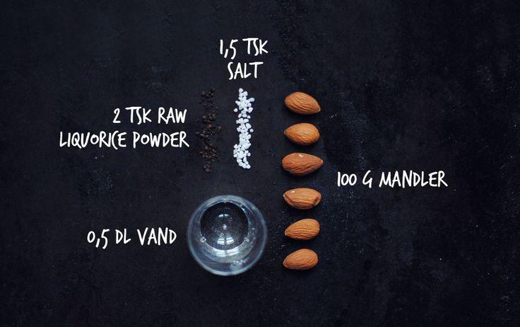 Opskrift: Ristede mandler med lakrids