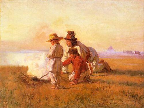 Pastuszkowie przy ognisku